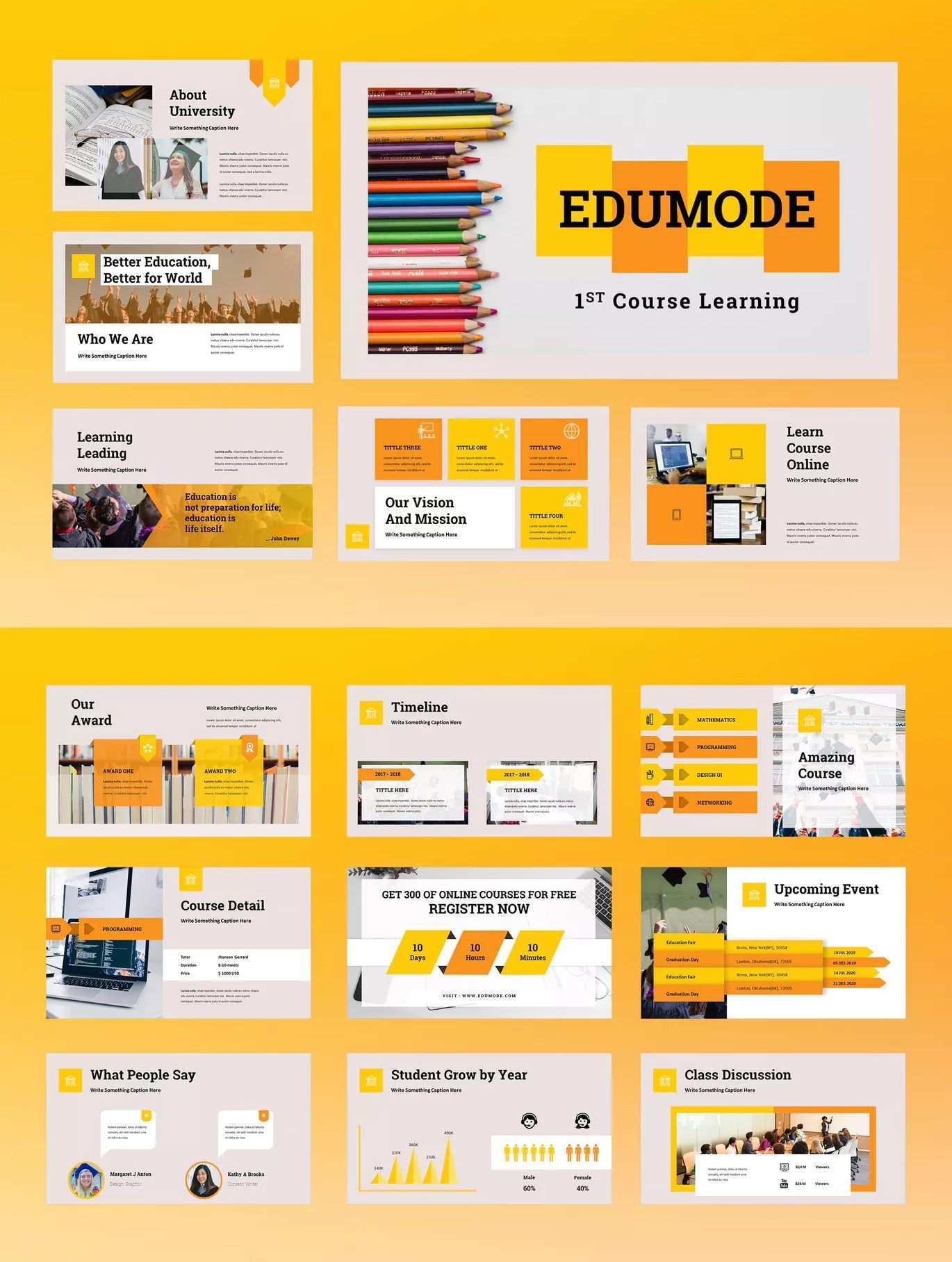 Edumode Education Powerpoint Presentation By Tmint On Envato Elements Free Powerpoint Presentations Simple Powerpoint Templates Powerpoint Presentation Templates