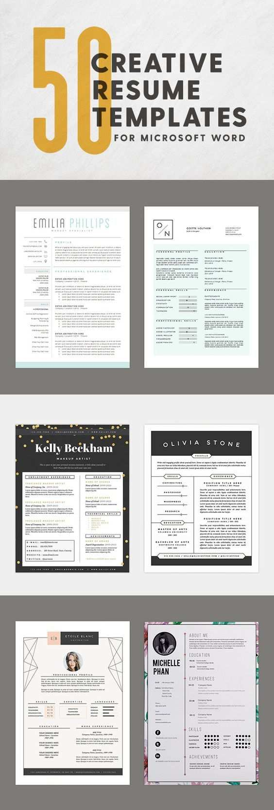 50 Creative Resume Templates You Won T Believe Are Microsoft Word Microsoft Word Resume Template Job Resume Creative Resume