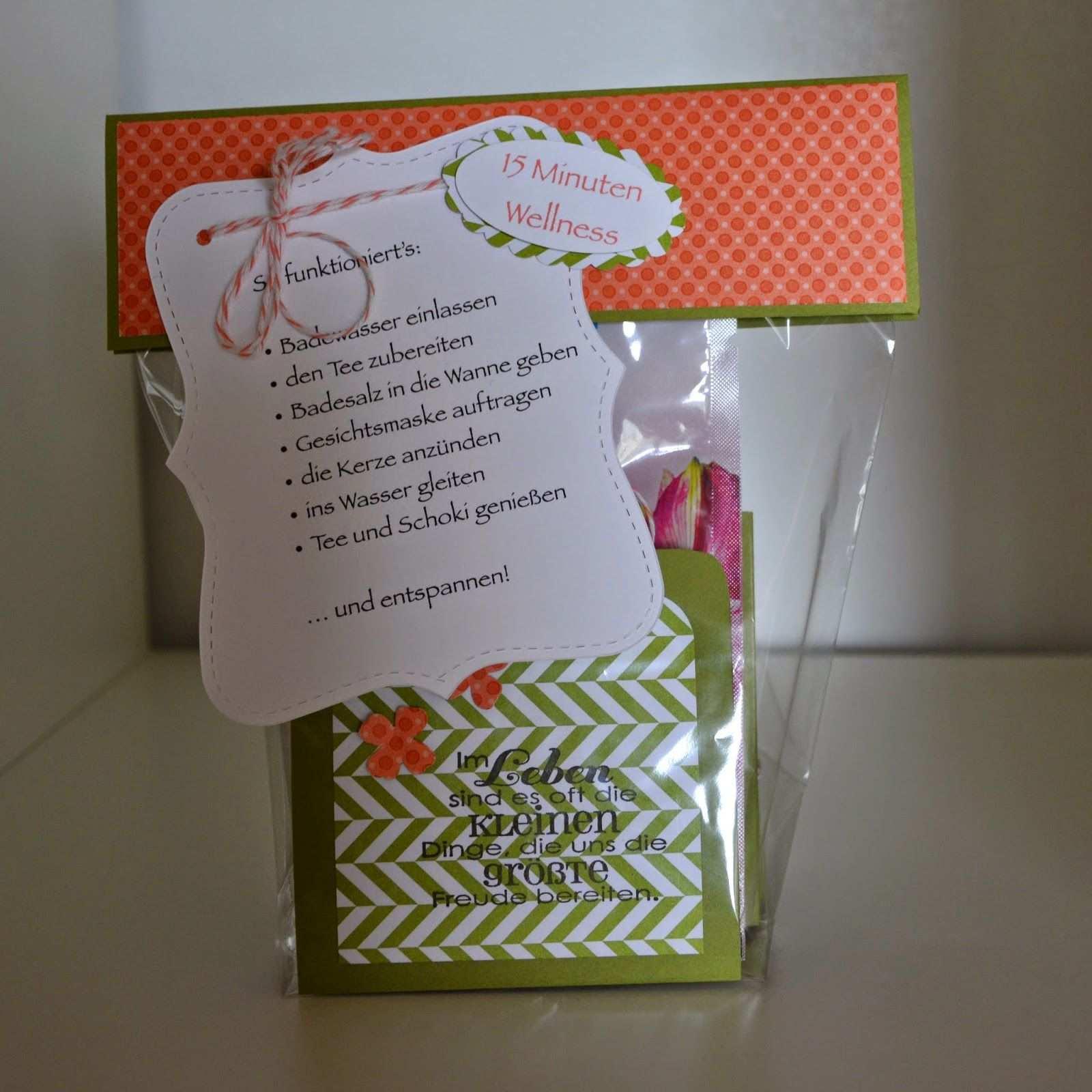 Stempelsee 15 Minuten Wellness Aus Der Tute Selbstgebastelte Geschenke Kleine Geschenke Geschenkideen