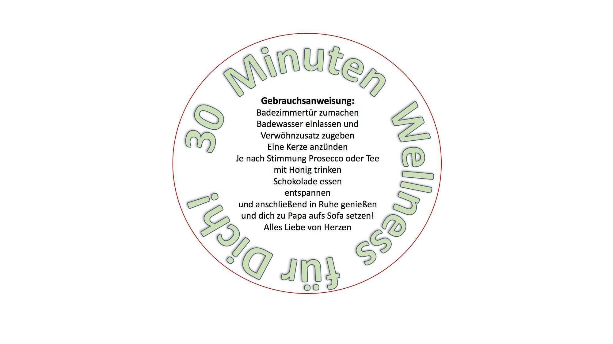 Text Fur 30 Minuten Wellness Fur Dich Ideen Fur Geschenke Geschenke Fur Frauen Geschenke
