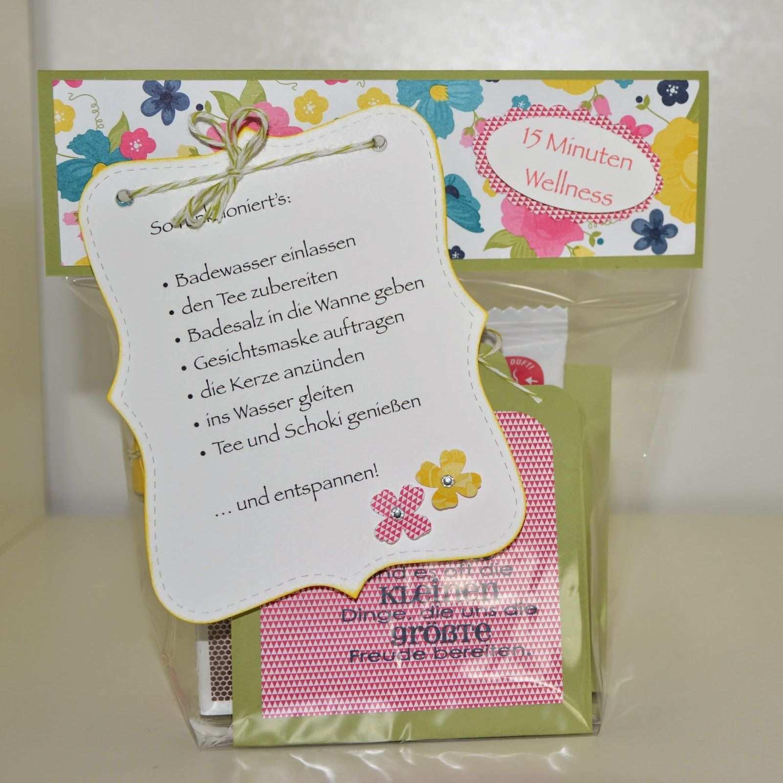 Stempelsee 15 Minuten Wellness Aus Der Tute Geschenke Basteln Kleine Geschenke Selbermachen Geschenke