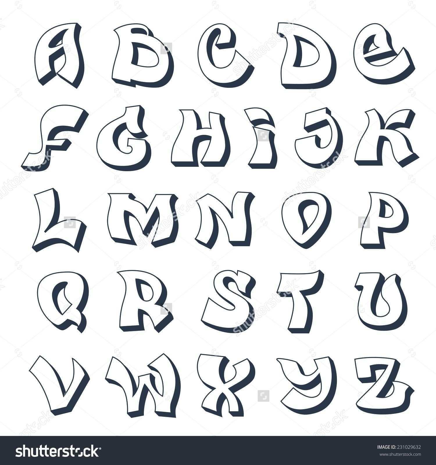 Graffiti Abc Vorlagen Graffiti Alphabet Cool Street Style Font In Graffiti Buchstaben Vorlagen A Z Font Di Scrittura Lettere Calligrafia Scrittura
