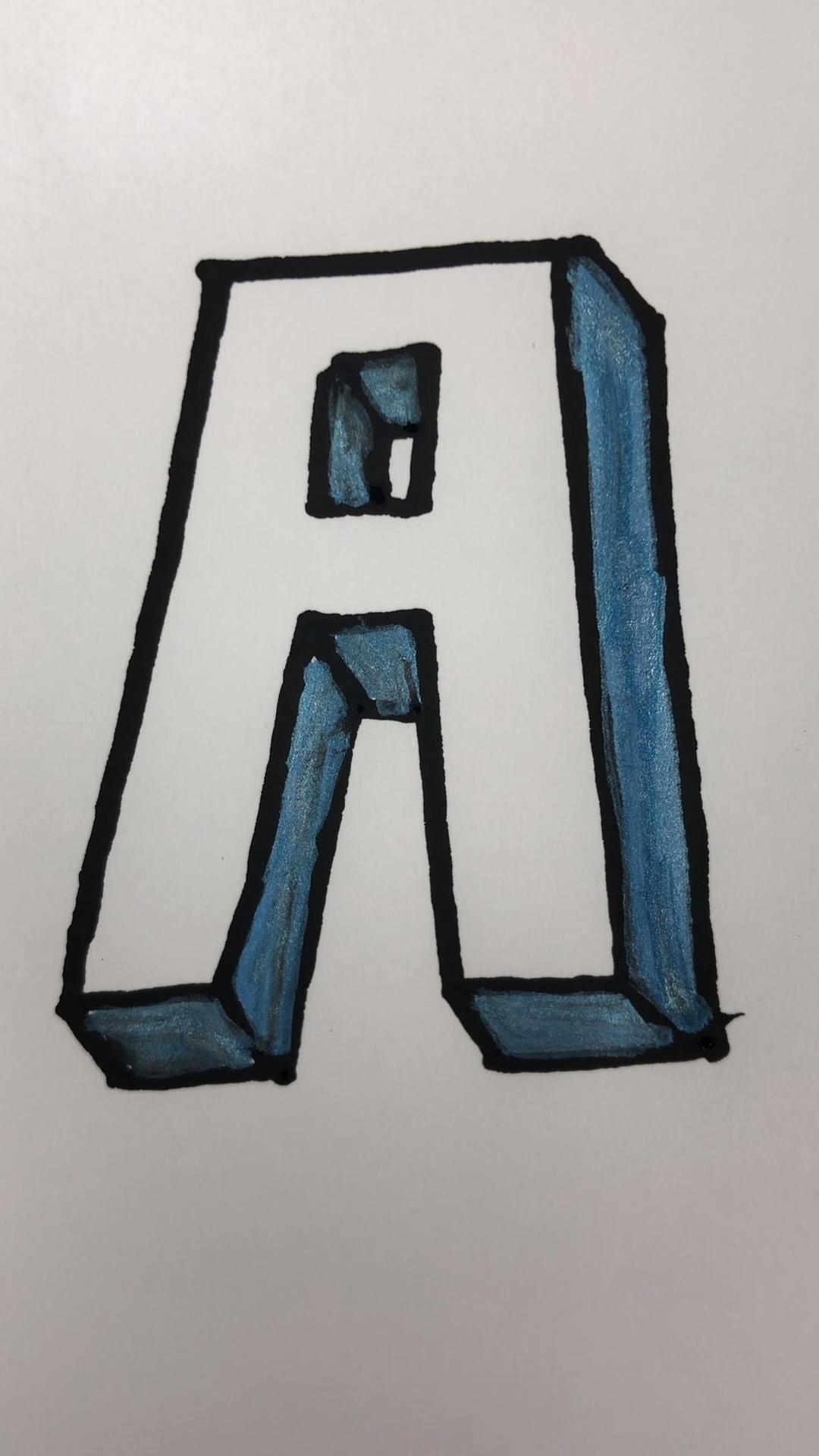 3d Buchstaben Zeichnen How To Draw An A In 3d Video Buchstaben Zeichnen 3d Zeichnen Zeichnen