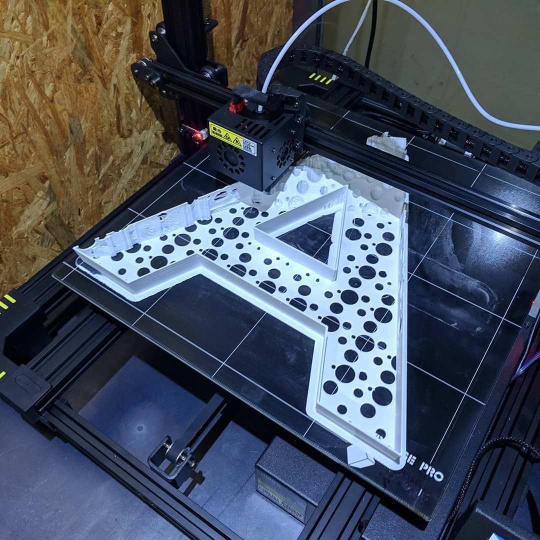 Signaletik Buchstaben Muster Auf Dem 3d Drucker 3d Drucker Drucken 3d Prints