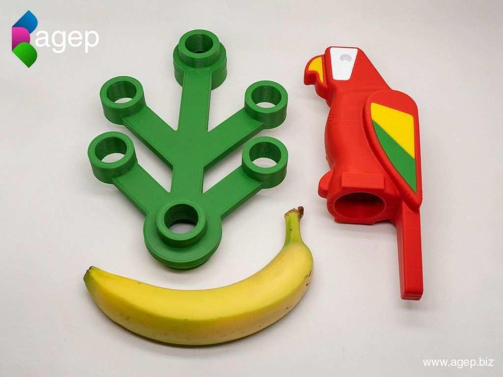 Human Scale Working Lego Parrot By Agepbiz Thingiverse 3d Prints 3d Druck Drucken