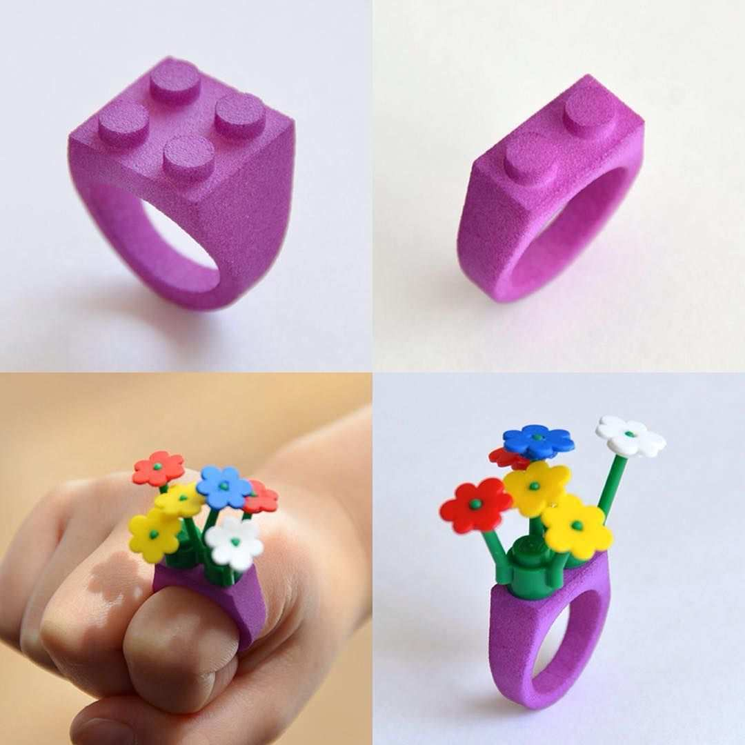 Id Arts On Instagram Legoブロックでデコれる3dプリントリング Id Arts 3dprinting 3dprinter Sls Lego Shapeways Ring 3d Printing Toys 3d Printing Diy 3d Printer Designs