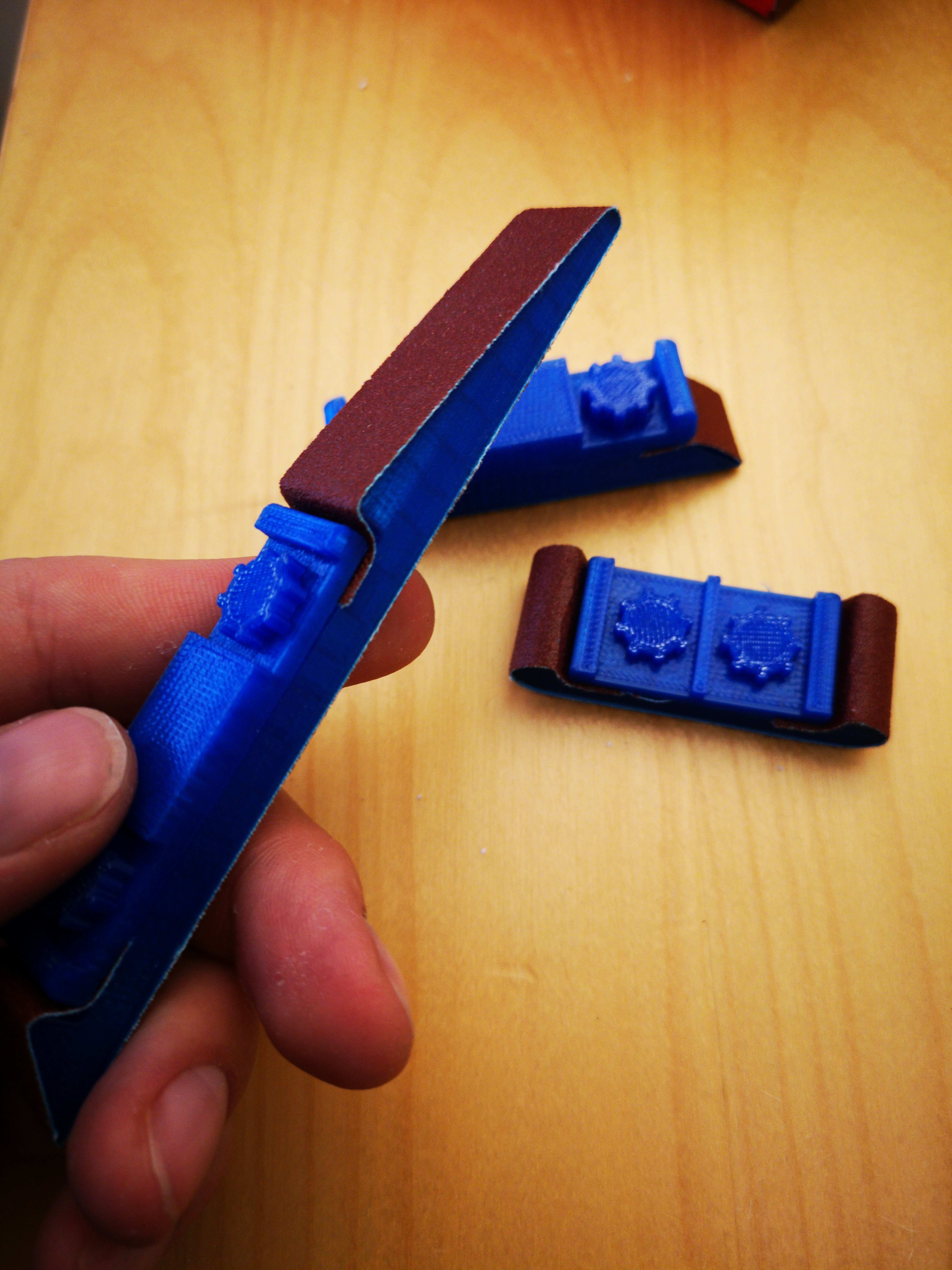Customizable Sanding Stick By Mightynozzle Thingiverse 3d Printer 3d Printing 3d Printing Diy