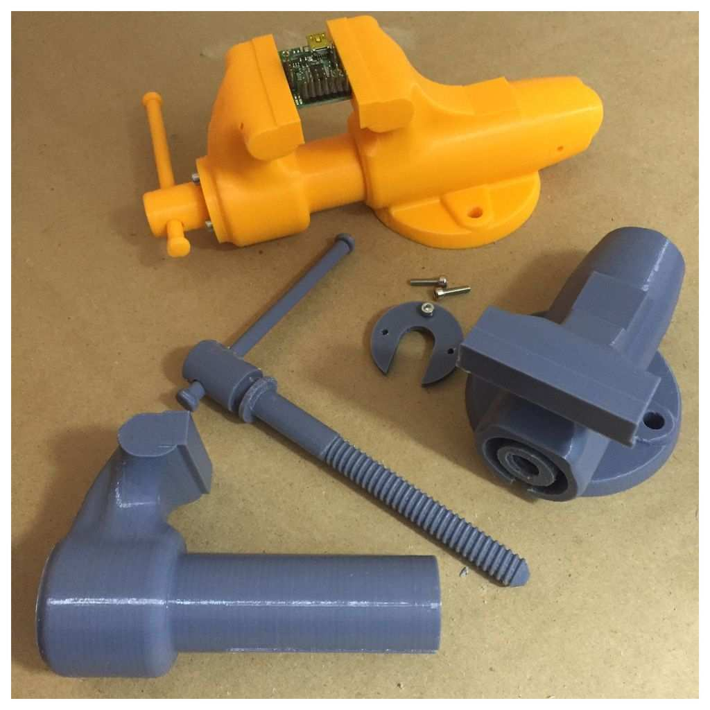 3d Printed Vise By Diodepress Thingiverse 3d Printing Diy 3d Printing Projects 3d Printing Business