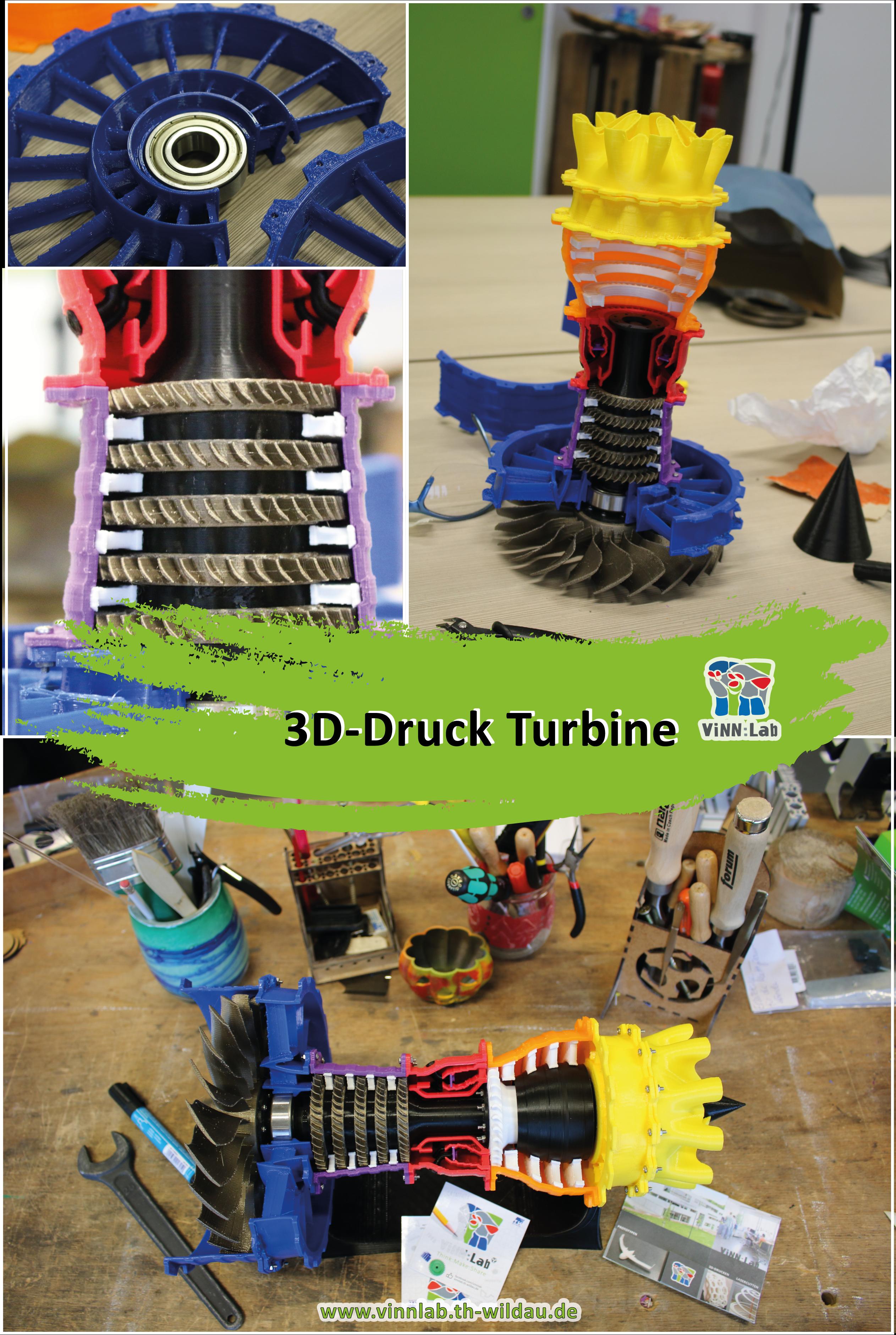 Turbine Aus Dem 3d Drucker 3d Drucker Projekte 3d Druck