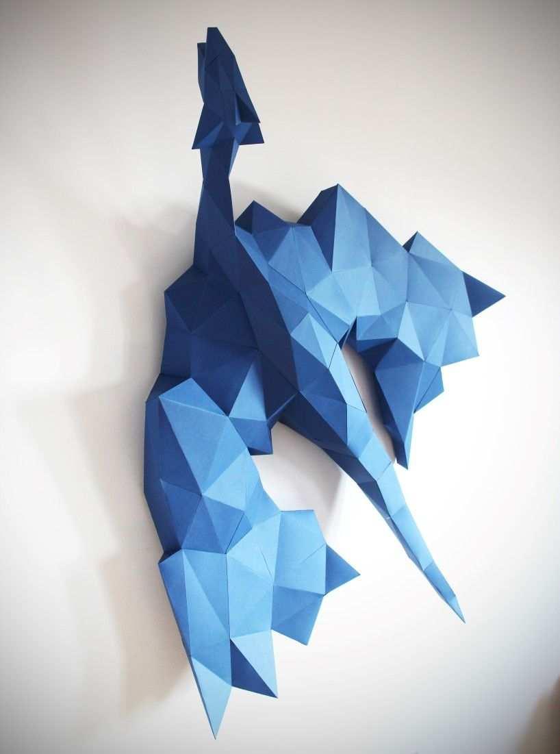 Polimind Tierische 3d Wanddekoration Aus Papier Mit Den Richtigen Fingerkniffen Konnen Wir Dank Or Bastelarbeiten Aus Papier Und Pappe Papierkunstwerk Papier