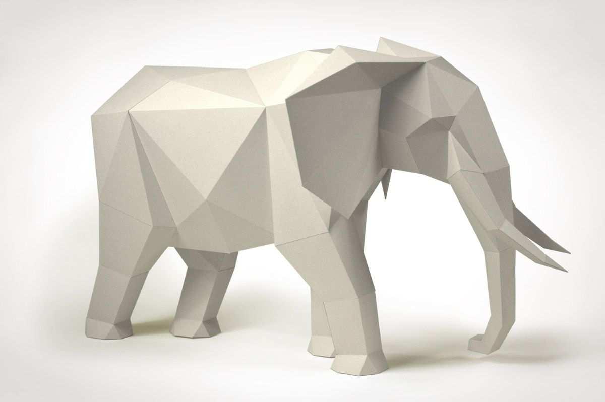 Elefant Diy Bastelset Von Liebesreh Beeindruckende Und Bunte Papierskulpturen Polygone T Papierskulpturen Bastelarbeiten Aus Papier Und Pappe 3d Origami