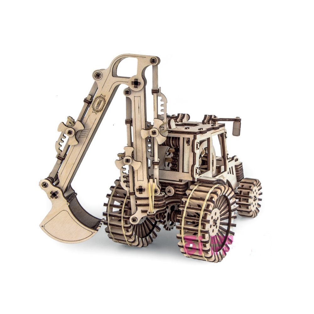 3d Wooden Tractor Puzzle Designer Excavator Safe Interesting Moving Parts Gift Kids Toys Plywoodkits Tractor 3dpuzzles Toys Brinquedos Cnc Miniaturas