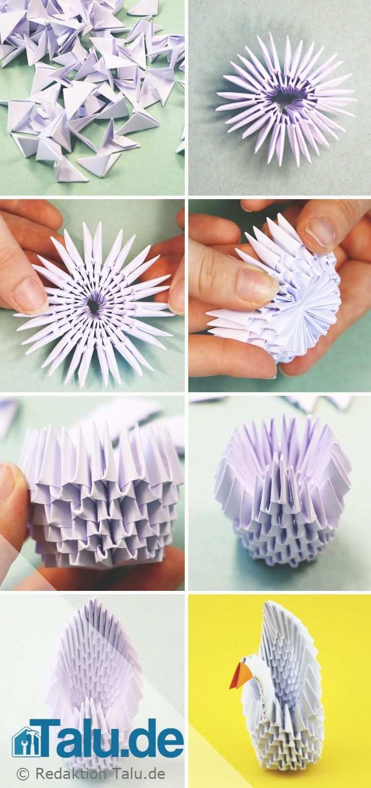 Tangrami Anleitung 3d Origami Schwan Falten Talu De Origami Anleitungen 3d Origami Anleitung 3d Origami Schwan