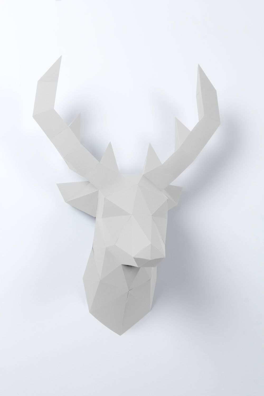 3d Papier Hirsch 3d Papier 3d Origami Pferd Papierskulptur