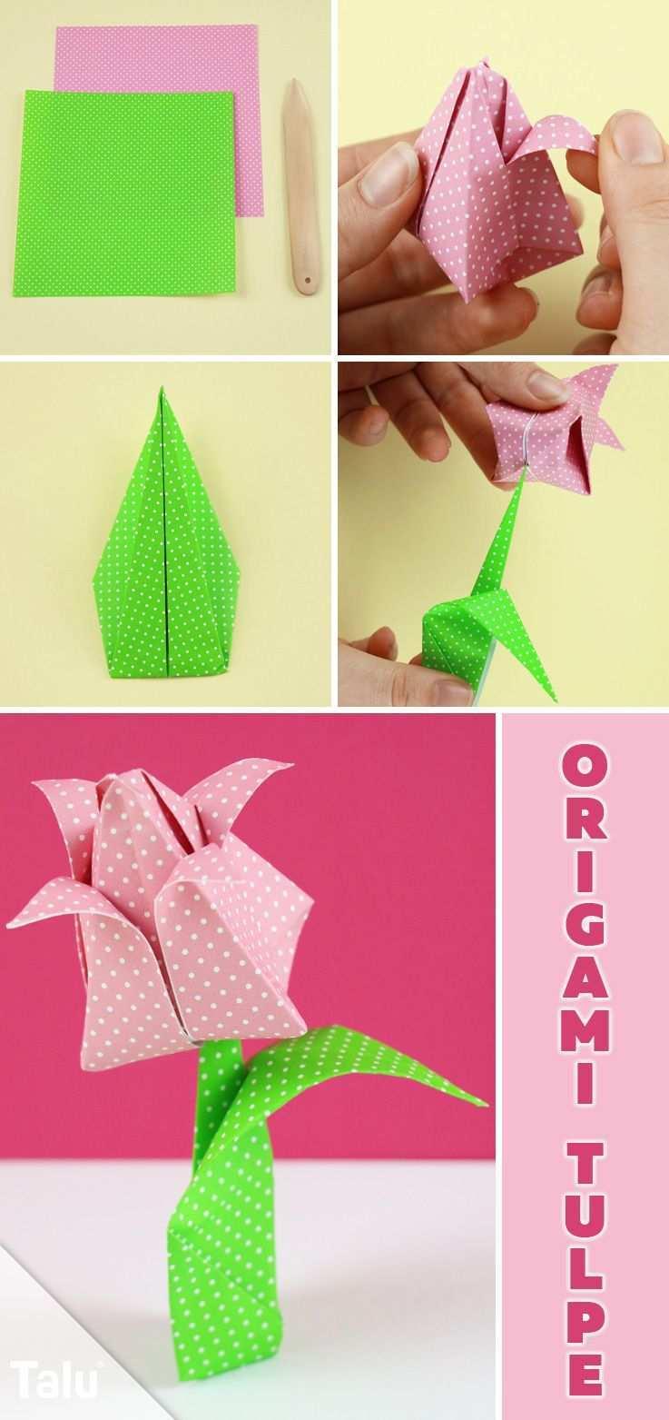 Origami Tulpe Falten Diy Anleitung Zum Ausdrucken Talu De Origami Tulpe Tulpe Falten Origami Anleitung Blume