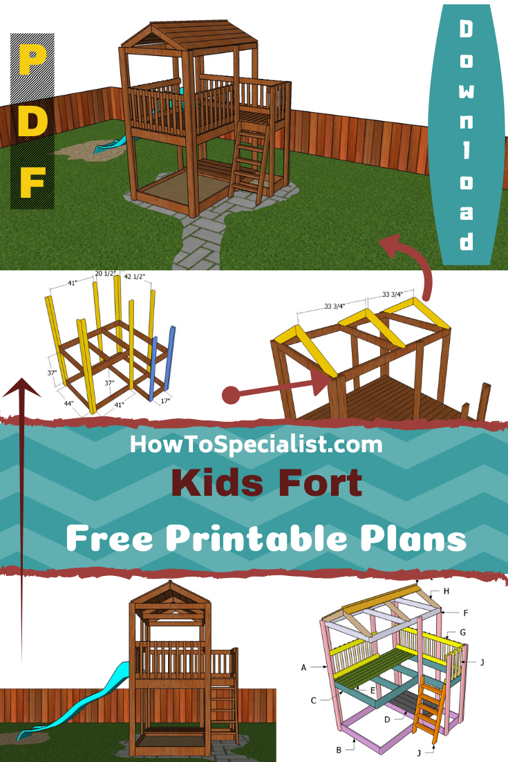 Kids Fort Plans Free Pdf Download Howtospecialist How To Build Step By Step Diy Plans Kids Forts Fort Plans Kids Forts Diy