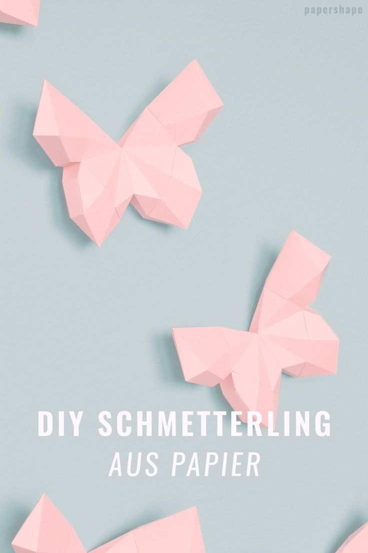 3d Schmetterling Basteln Als Wanddeko Mit Vorlage Schmetterlinge Basteln Basteln Mit Papier Falten Blumen Basteln Aus Papier