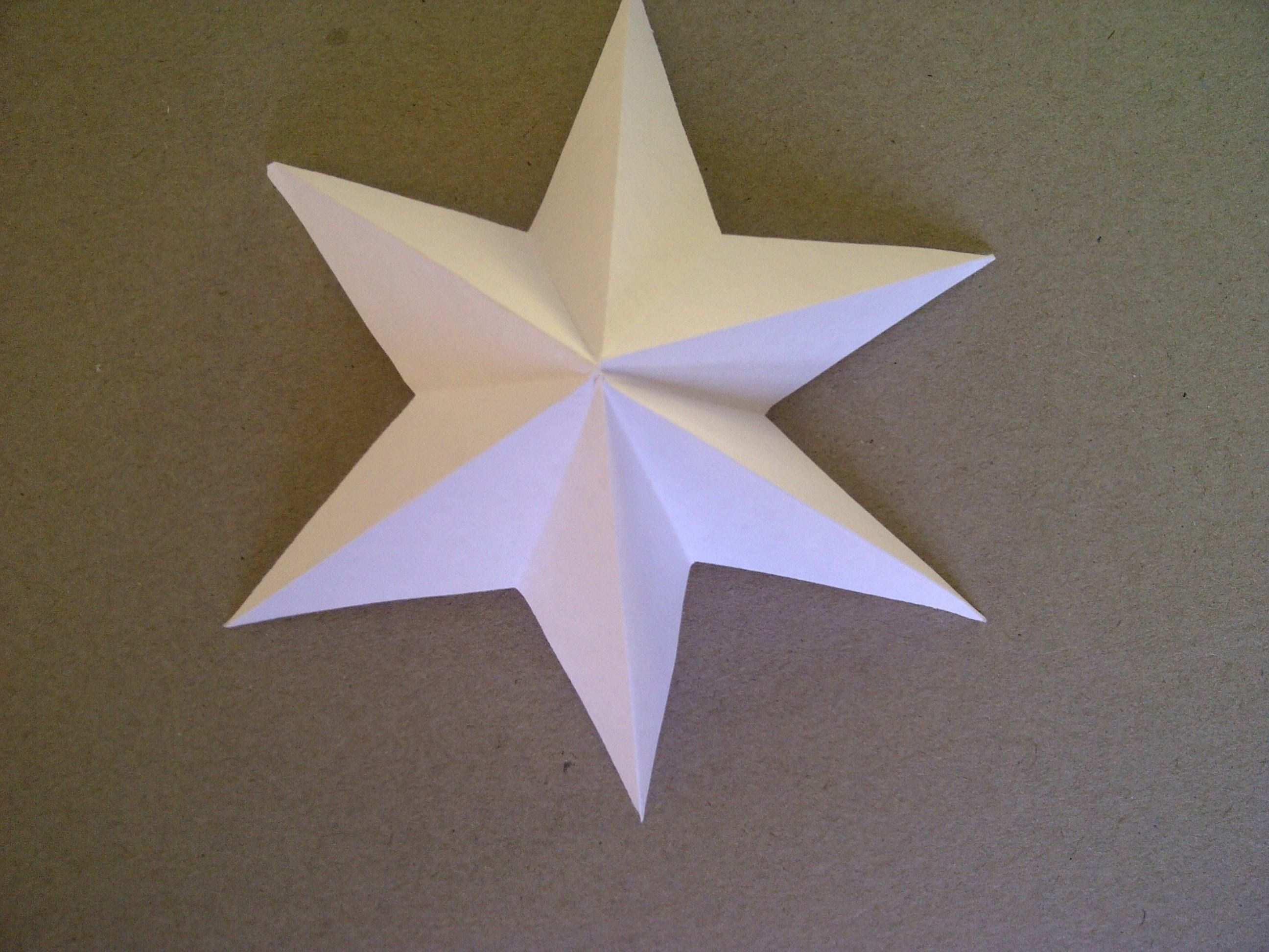 3d Sterne Basteln 6 Zackiger Stern Aus Papier Falten Sehr Einfach 3d Sterne Basteln Sterne Falten Weihnachten Sterne Basteln Aus Papier