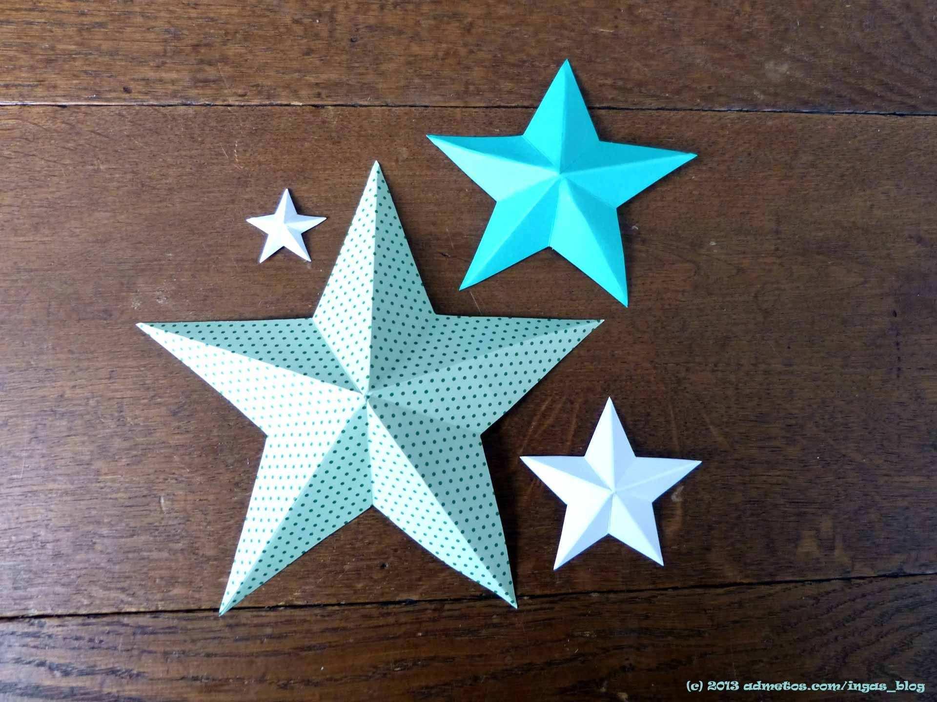 3d Papierstern Druckvorlage Jpg 1 920 1 440 Pixel Sterne Basteln Aus Papier 3d Sterne Basteln Papiersterne