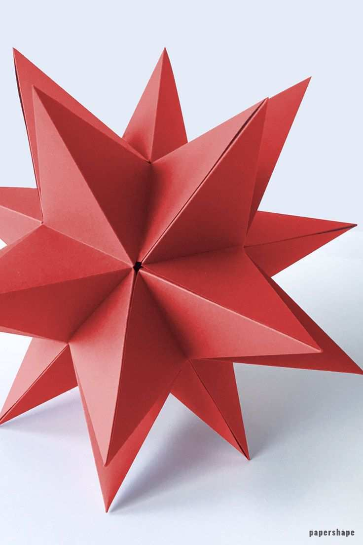 Diy 3d Paper Star For Christmas With Template Papershape Paper Flowers Diy 3d Paper Star Paper Crafts Diy