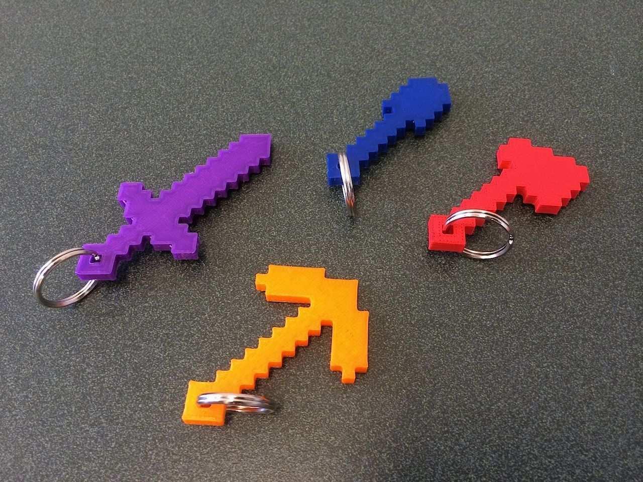 Cool Minecraft Keychains 3d Prints 3d Drucker 3d Drucker Vorlagen