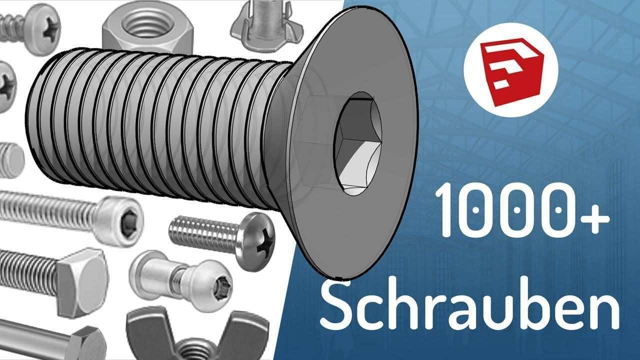 Sketchup 1000 Schrauben Kostenlos Fur 3d Druck Tutorial 3d Drucker Vorlagen 3d Druck 3d Drucker Bausatz