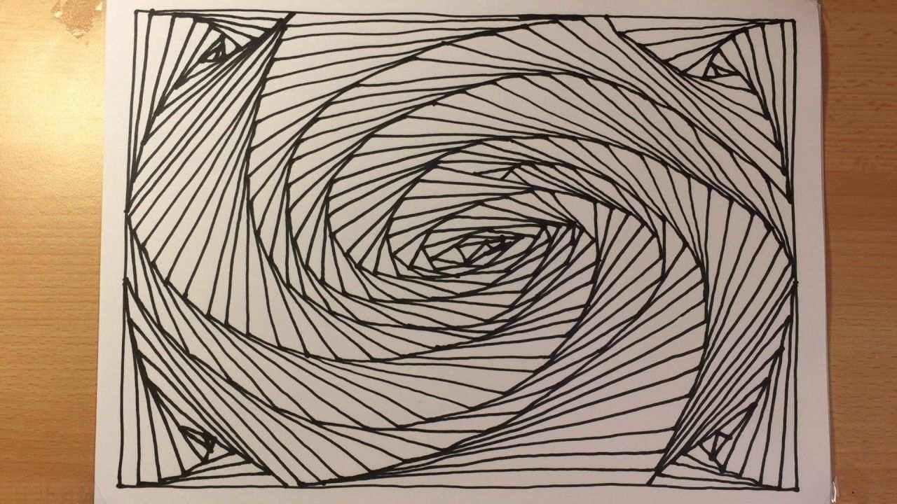 Zeichnen Lernen Leicht Tag 03 Abstrakt 3d Fur Anfanger Abstract Spiral Drawing 3d Illusion Line Art Youtube Abstrakt Zeichnen Lernen Zeichnen