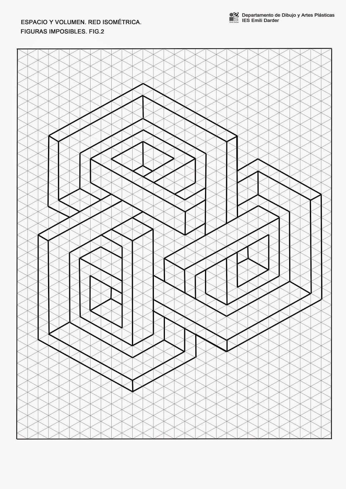 Figuraimpos2 Isom Jpg 1131 1600 Kunst Auf Papier Isometrie Zeichnen 3d Kunst Zeichnung