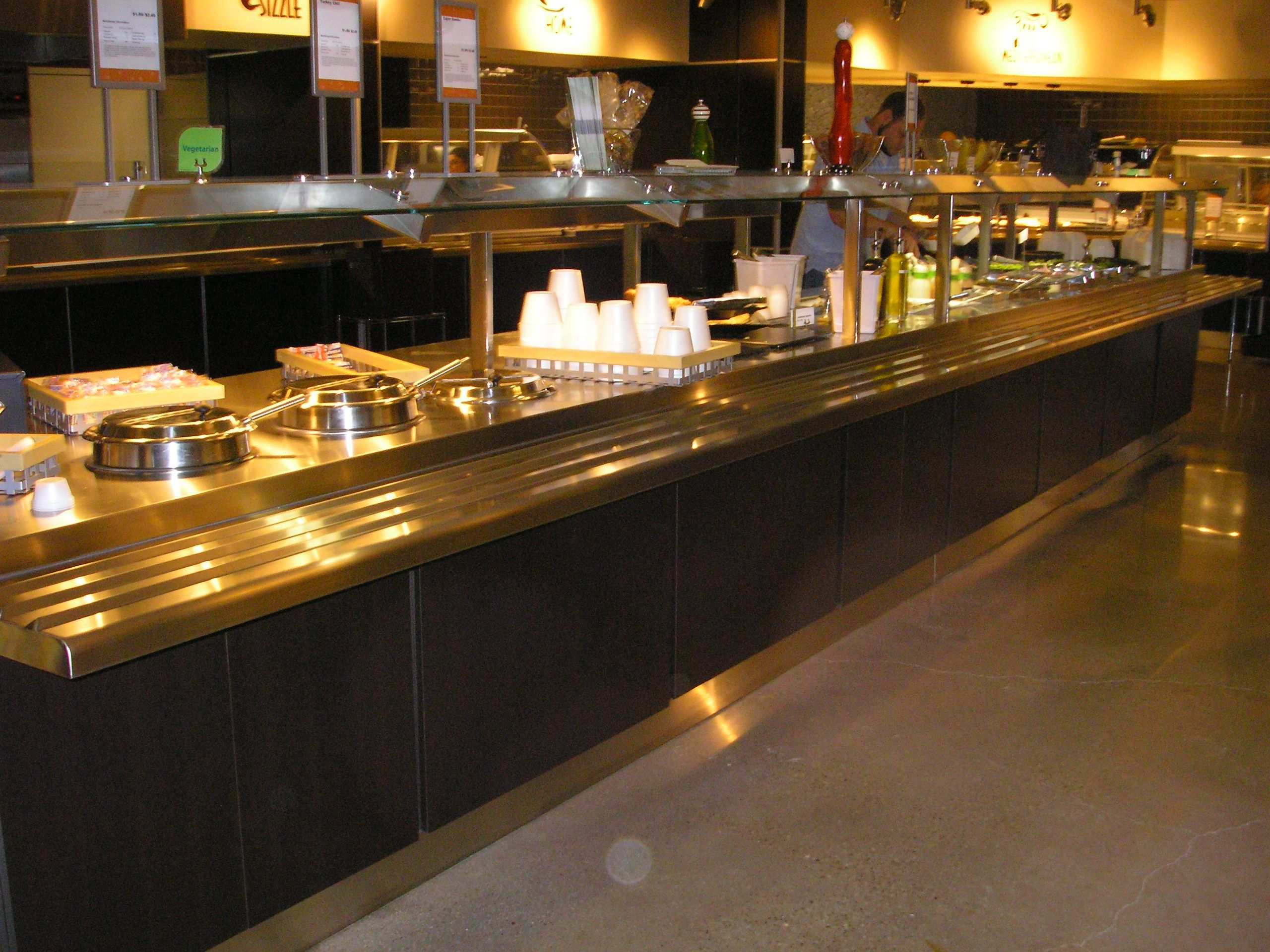 Glamorous Small Restaurant Kitchen Design With Classy Long Rectangular Serving Place For Food Impressive Small Restaurant Kitchen Design Ideas Restaurant Arbeit