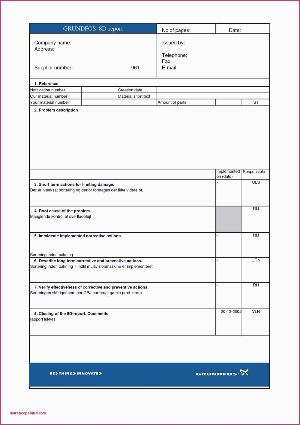 D Report Template Glendale Community With 8d Report Format Template 10 Professional Template Report Template Problem Solving Template Professional Templates