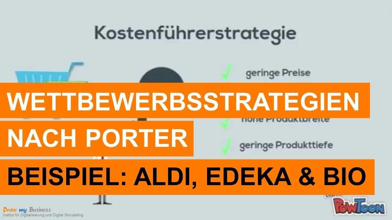 Die Drei Wettbewerbsstrategien Nach Porter Am Beispiel Aldi Edeka Und Bio Laden Youtube
