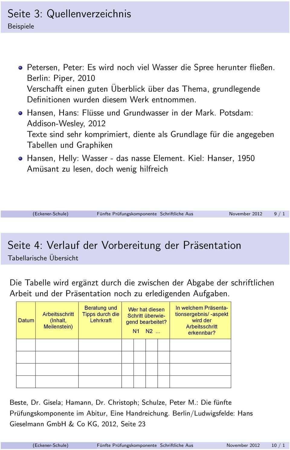 Funfte Prufungskomponente Schriftliche Ausarbeitung Pdf Kostenfreier Download