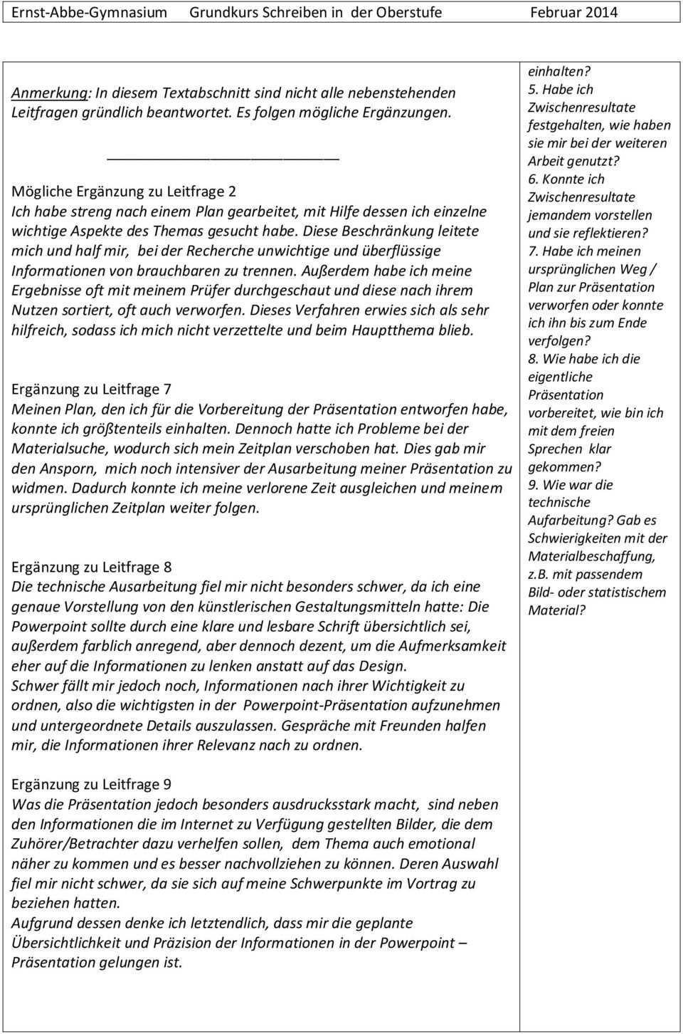 Schriftliche Ausarbeitung Zur Prasentationsprufung Als 5 Pk Des Abiturs Pdf Free Download