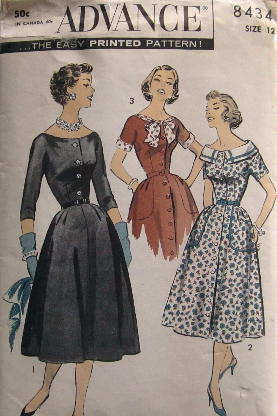 Advance 8434 1957 Schnittmuster Muster Schnittchen