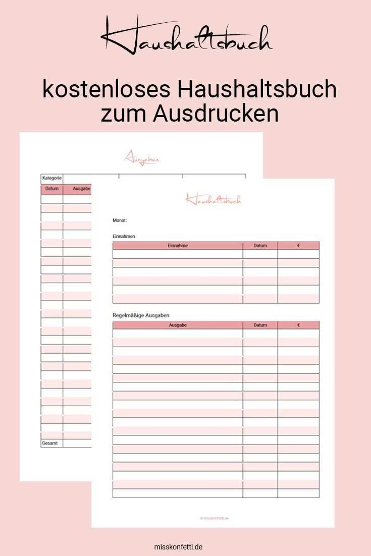 Haushaltsbuch Vorlagen Mehr Geld Am Ende Des Monats Haushaltsbuch Vorlage Haushaltsbuch Haushaltsbuch Excel Vorlage