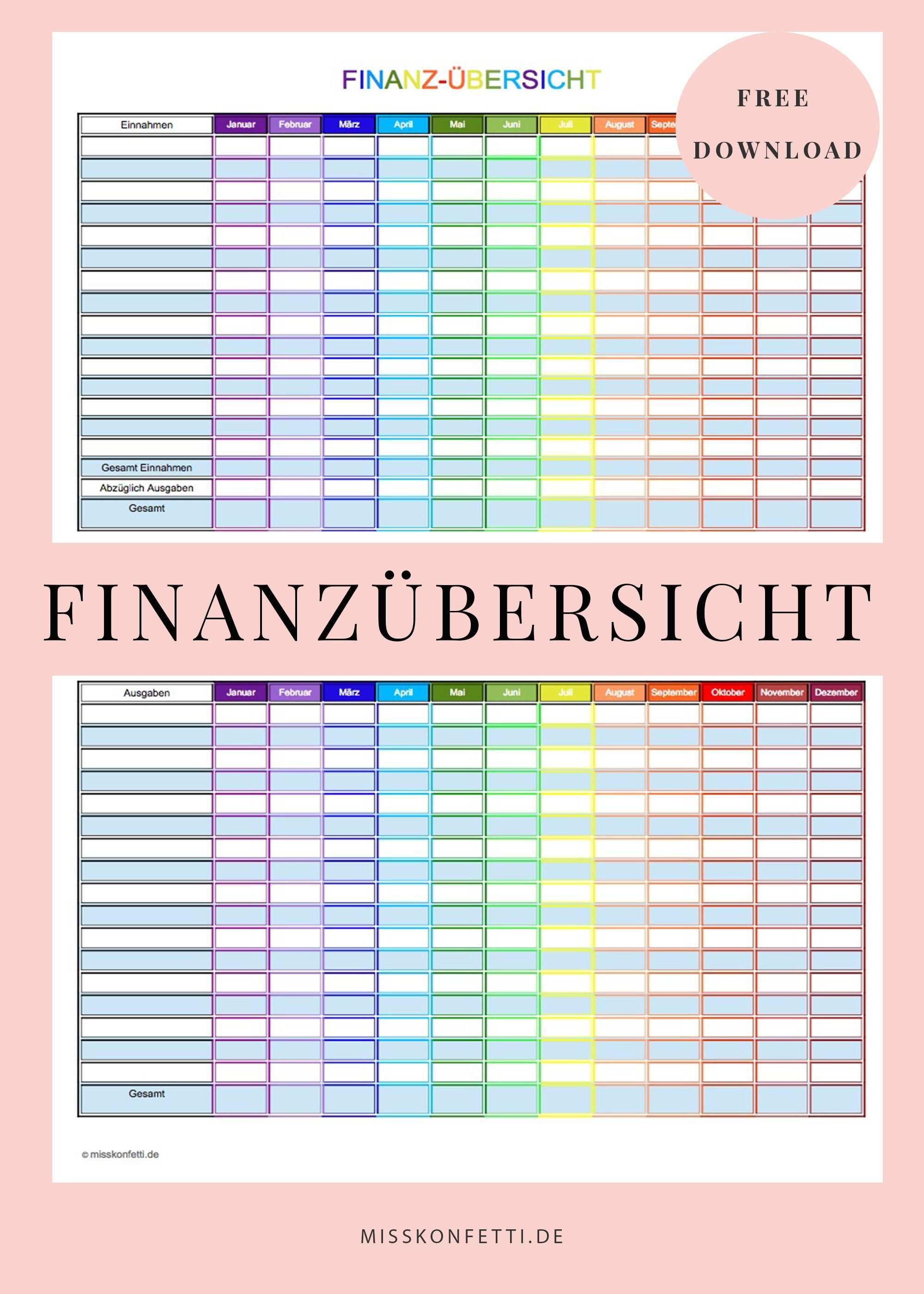Finanzubersicht Fur Ein Haushaltsbuch Printable Fur Mehr Uberblick Bei Den Finanzen Miss Konfetti Haushaltsbuch Vorlage Haushaltsbuch Haushaltsbuch Fuhren