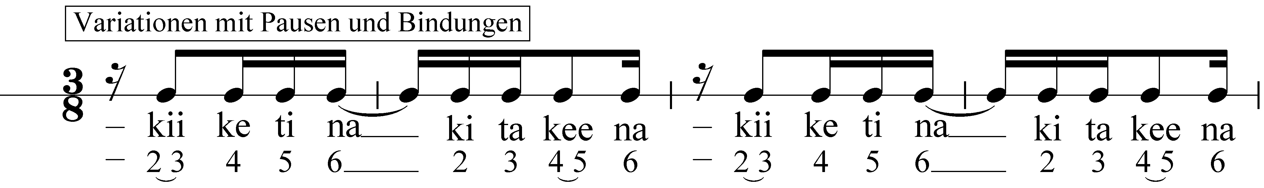 Rhythmus Alphabet Iii Dreiertakt Musik Ist Mehr Bernd Michael Sommer