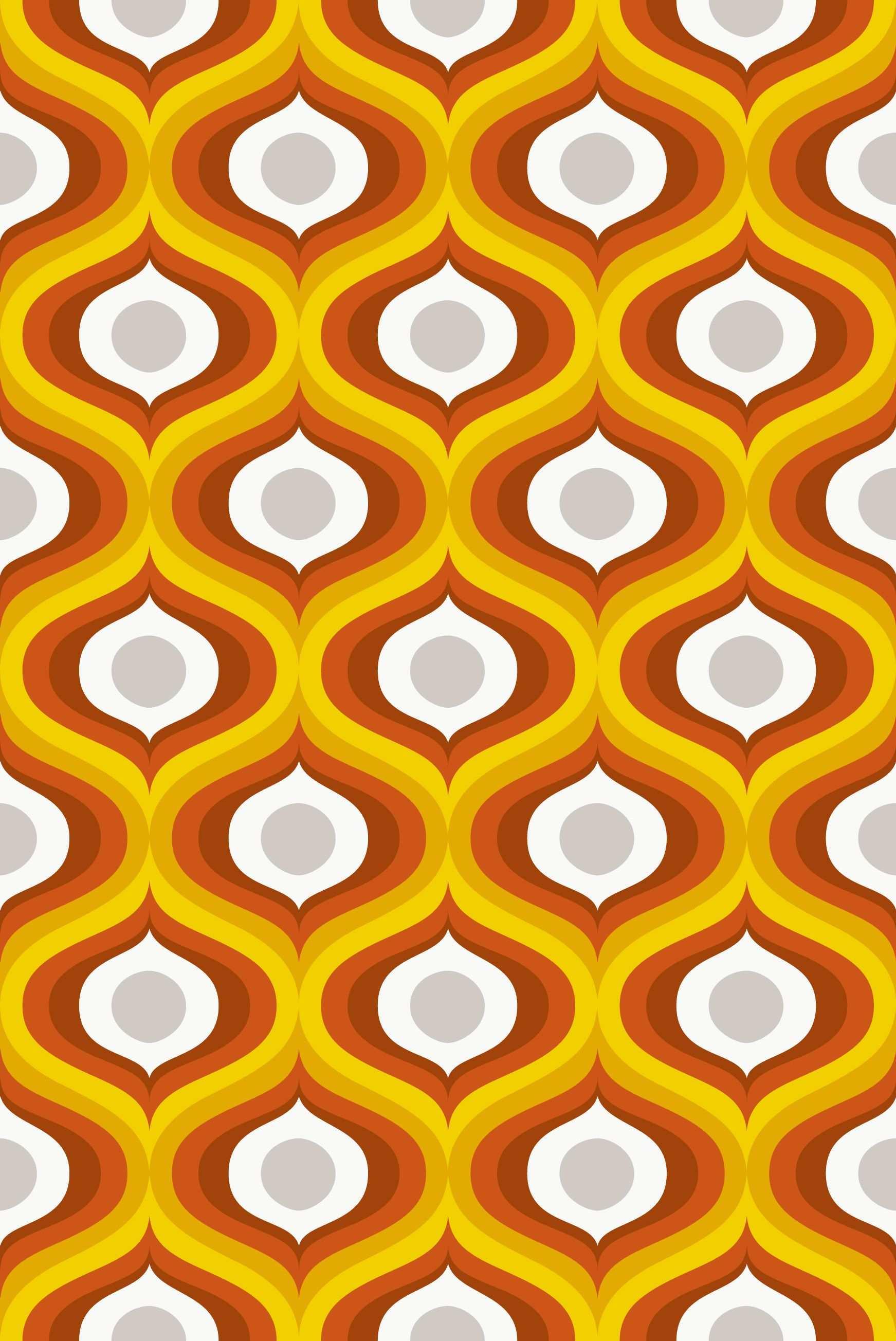 Pin Von Ally Howell Auf Scandinavian Retro Druck Musterdruck Floral Muster