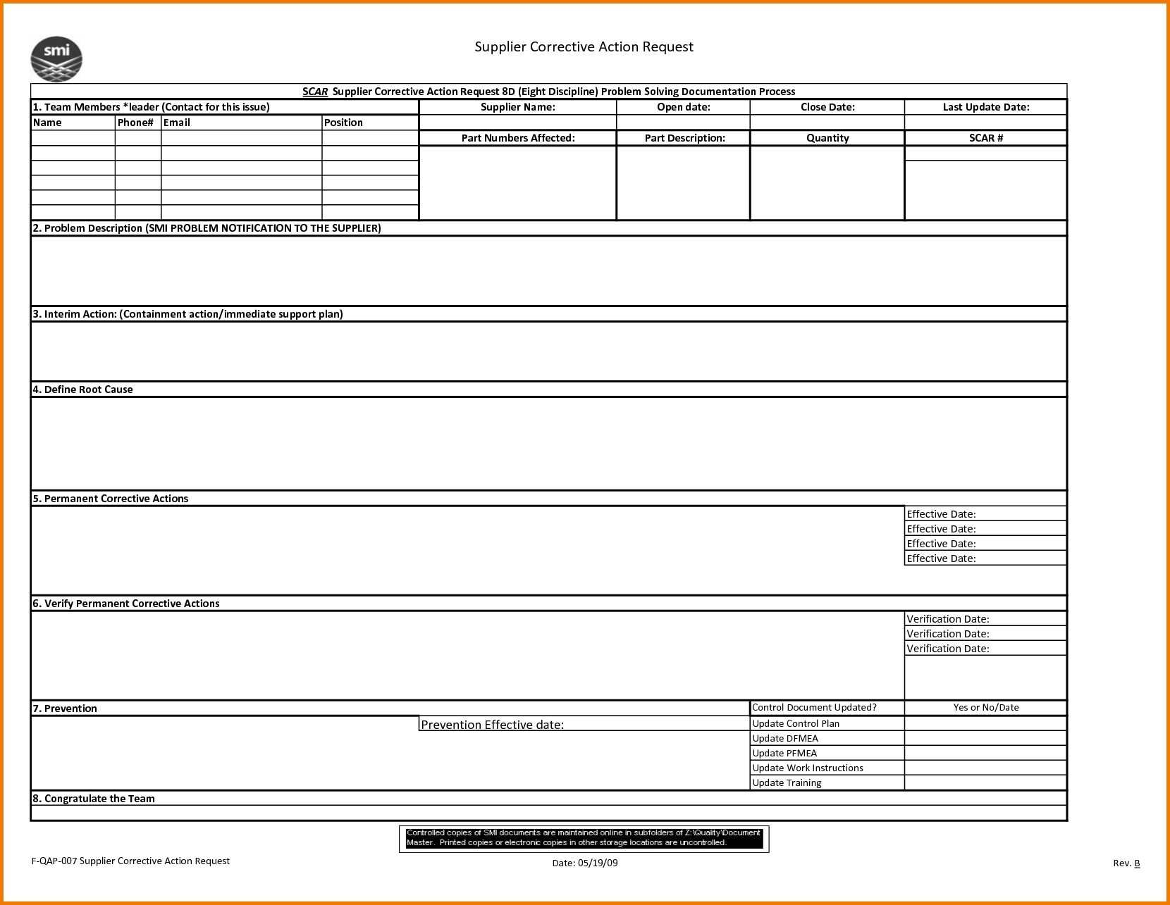 8d Report 2 Rt Template Pdf Excel Download Free Doc Examples For 8d Report Format Template Best Sample Template Report Template Powerpoint Word Templates