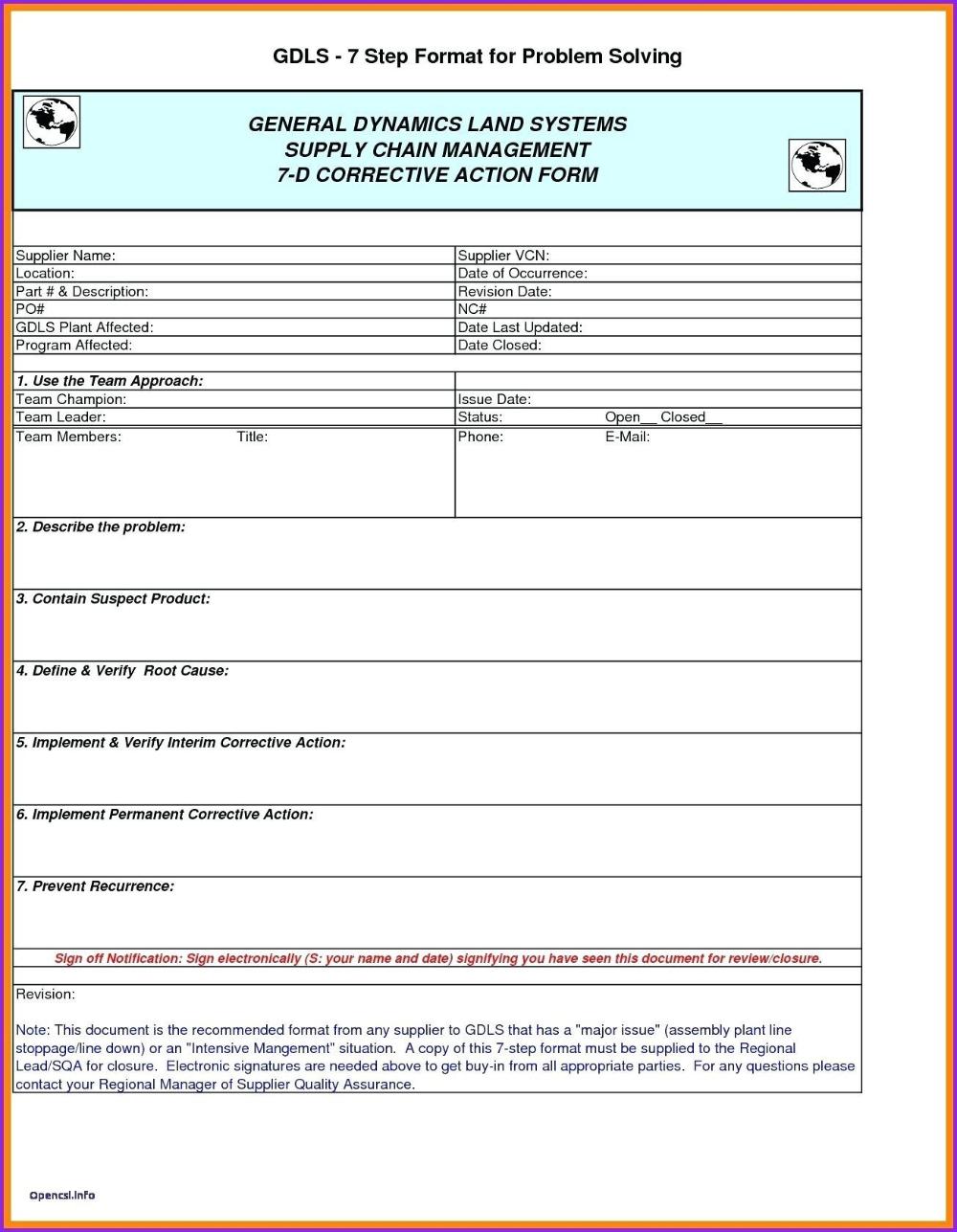D Report Vorlage Excel Dann Corrective Action Form Corrective Inside 8d Report Format Templ Report Template Book Report Templates Teacher Lesson Plans Template