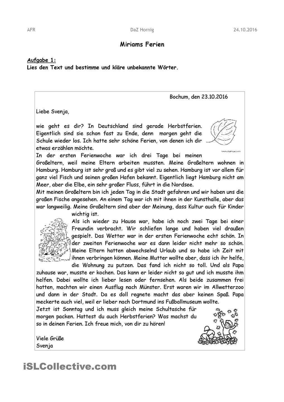 21 Brief Schreiben 5 Klasse Freyajacklin German Language Learning German Grammar Learn German