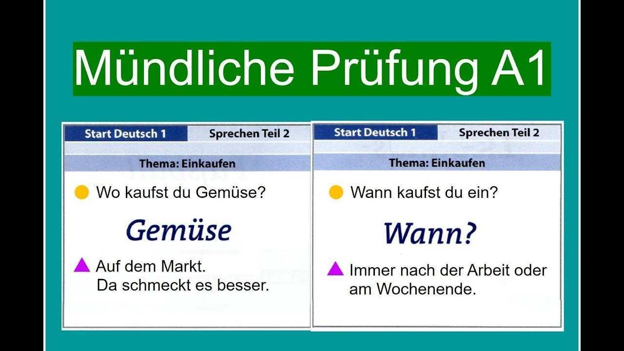 Start Deutsch 1 Sprechen A1 Mundliche Prufung A1 Youtube