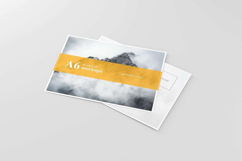 A6 Flyer Postcard Mockup Postcard Mockup Business Card Mock Up Flyer
