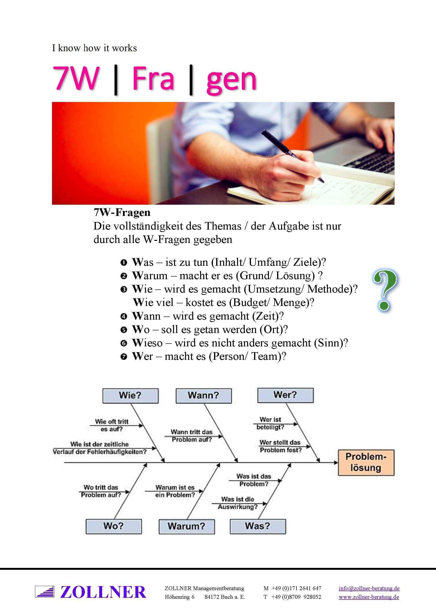 7w Fragen Die Vollstandigkeit Des Themas Der Aufgabe Ist Nur Durch Alle W Fragen Gegeben Was Ist Zu Tun Inhalt Umf W Fragen Lernen Prasentation Tipps