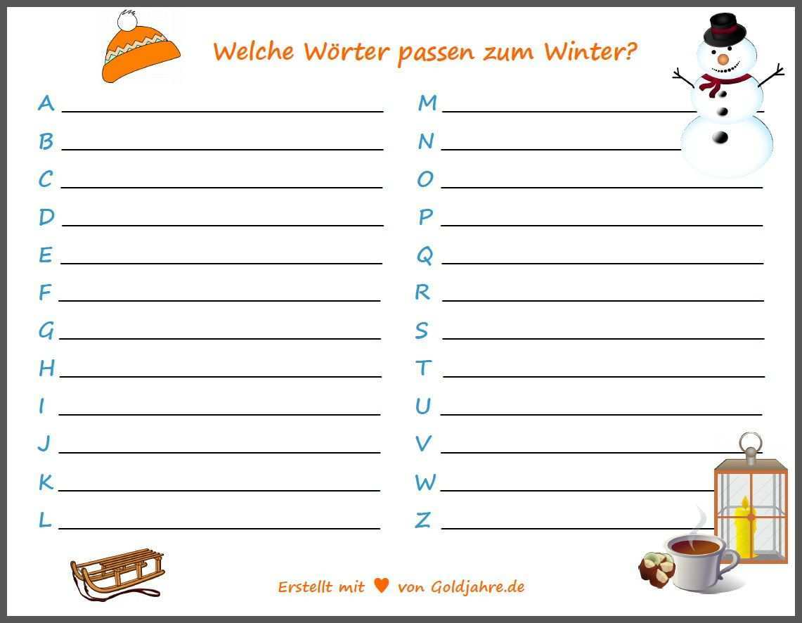 Abc Liste Winter Spiele Fur Senioren Abc Winter