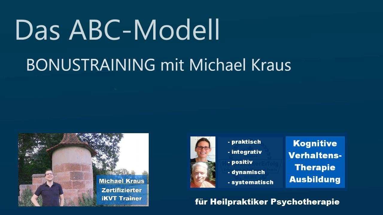 Verhaltenstherapie Zusammenfassung Zum Abc Modell Teil 5 Fur Heilpraktiker Psychotherapie Youtube