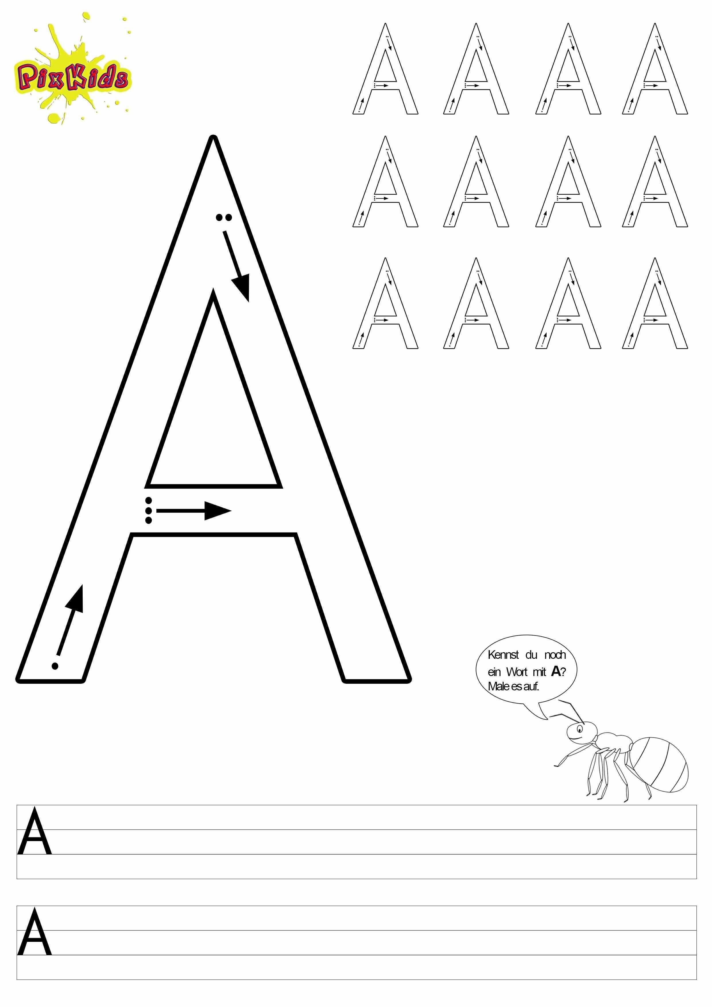 Arbeitsblatt Zum Schreiben Lernen Und Ausmalen Grossbuchstabe A Buchstaben Lernen Schreiben Lernen Buchstaben Fur Vorschulkinder