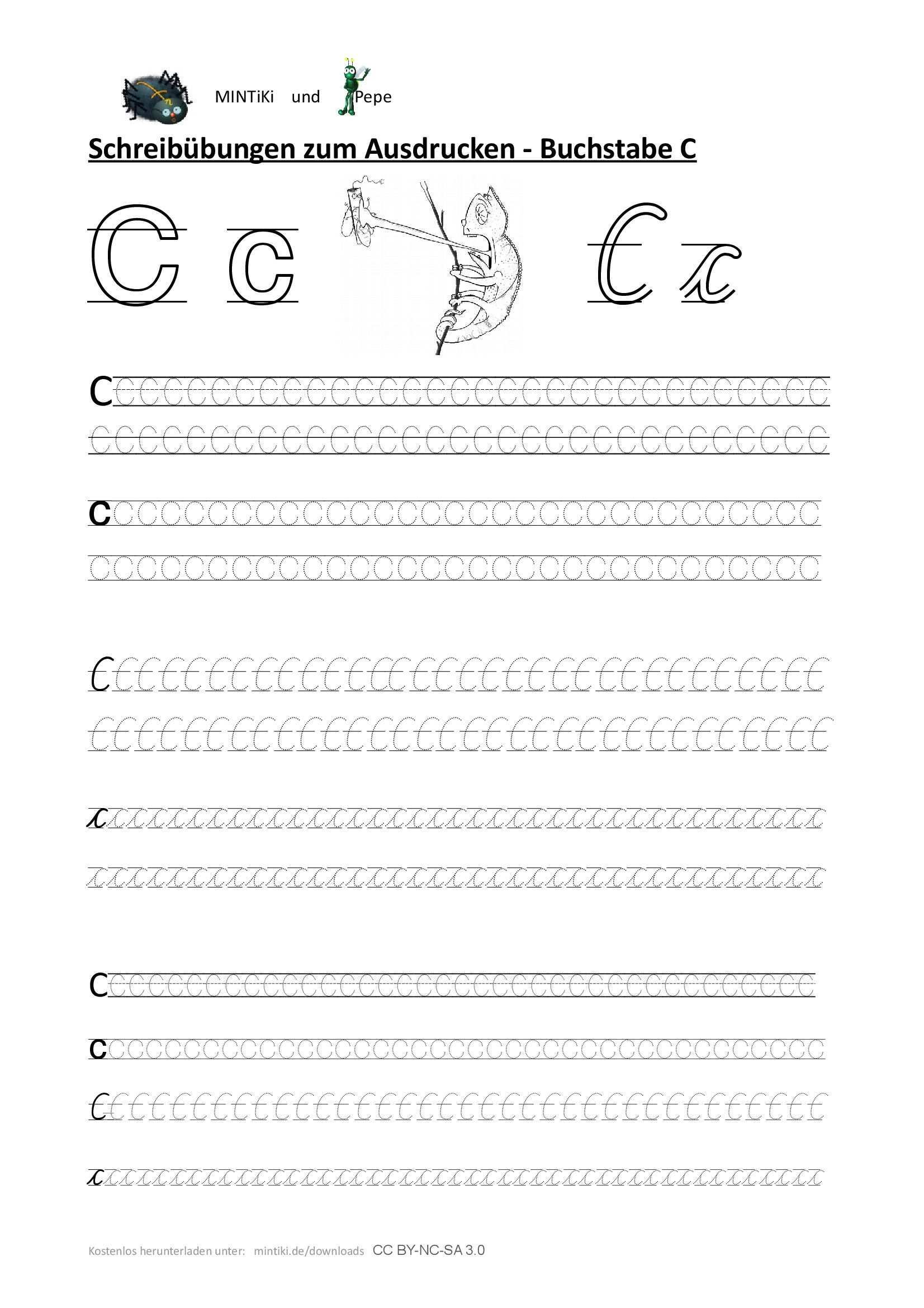 Schreibubung Buchstabe C Druckbuchstaben Schulausgangsschrift Sas Gepunktete Schrift Abc Erste Klasse Druckbuchstaben Schreibubungen Schreibschrift Uben