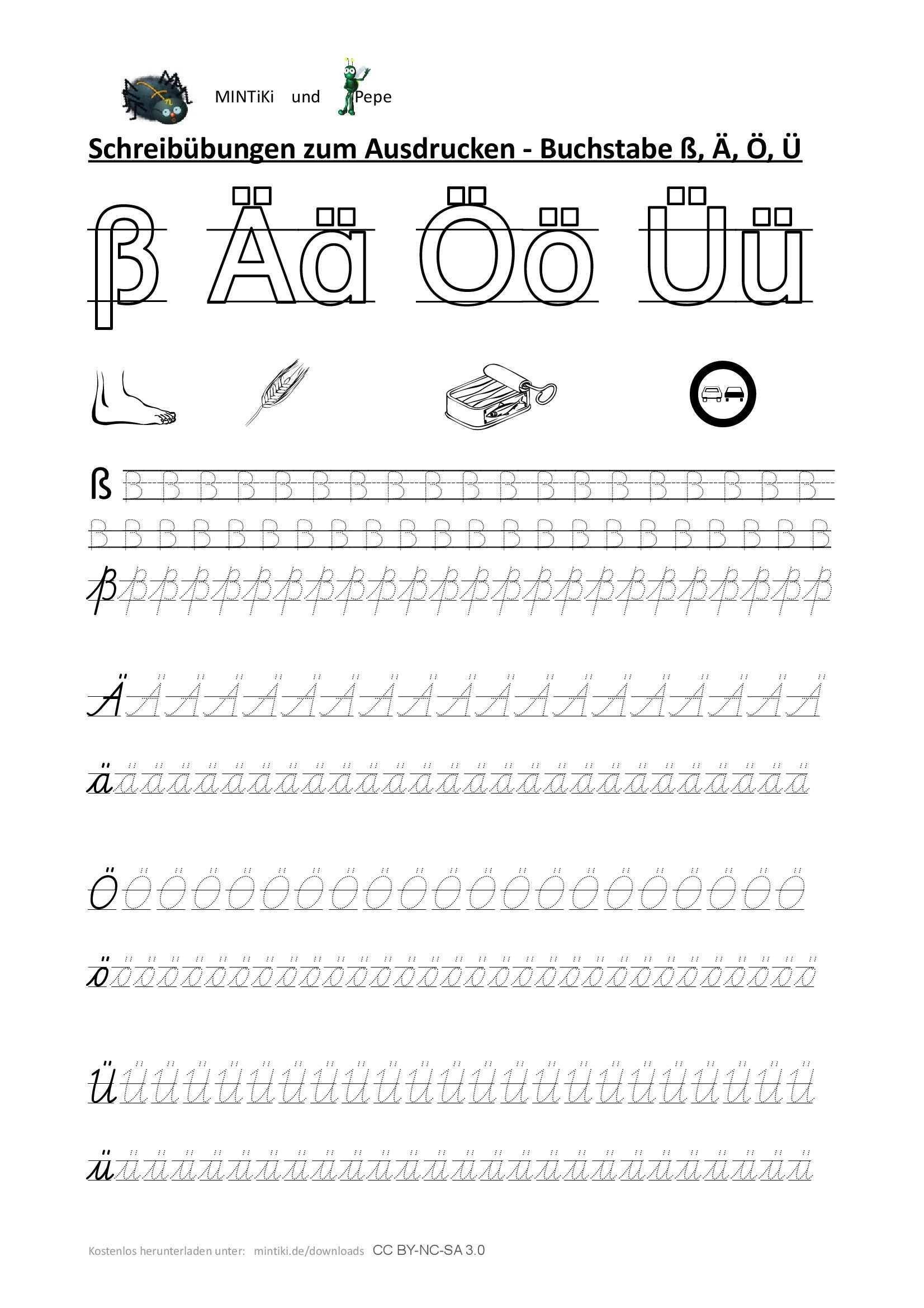 Schreibubung Buchstaben Sonderlaute Druckbuchstaben Schulausgangsschrift Sas Gepunktete Schrift Abc Er Druckbuchstaben Buchstaben Lernen Schreibubungen