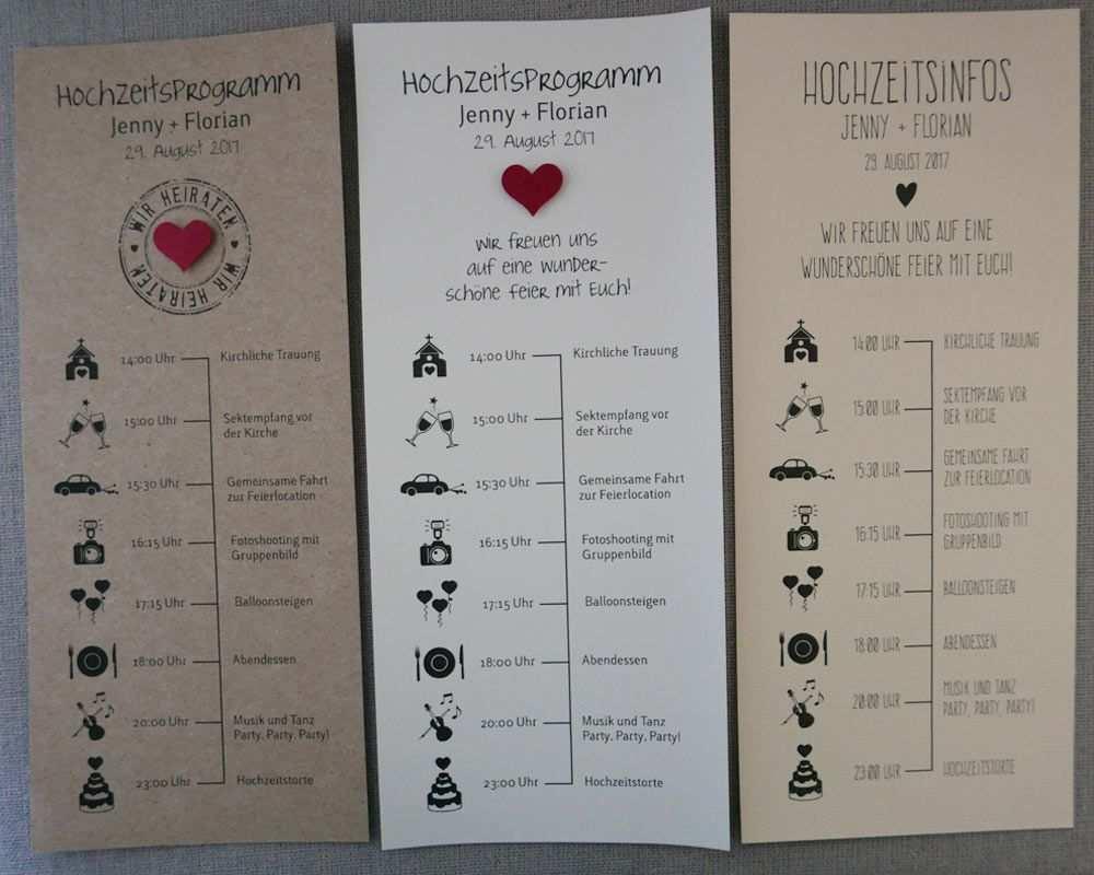 Individuelles Hochzeitsprogramm Tagesablauf Mit Zeitplan Als Information Fur Ihre Hochzeitsgaste Im Din Hochzeitsprogramm Hochzeit Ablauf Einladungen Hochzeit